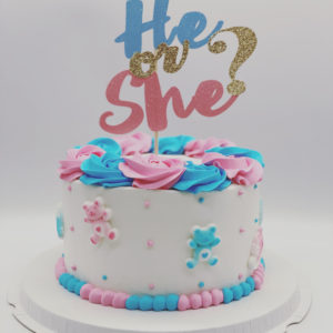 6″ Gender Reveal 10-12 servings (Pick up Only)